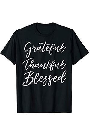 P37 Design Studio Jesus Shirts Christian Blessings Gift Quote Grateful Thankful Blessed T-Shirt