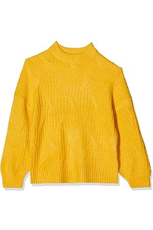 Dorothy Perkins Women's Petite Ochre Diagonal Detail High Neck Jumper Pullover Sweater