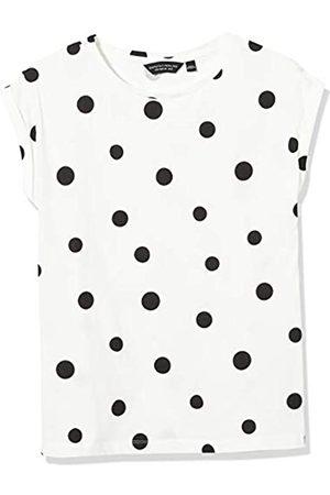 Dorothy Perkins Women's 3 Pack Multi Coloured Roll Sleeve Organic Cotton T-Shirt