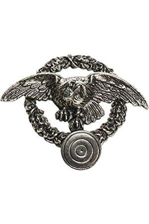 Schnabel Beak Jewellery Mens Shooting Hunting Badge Eagle Wreath Brooch Plated Brushed 001280/V178