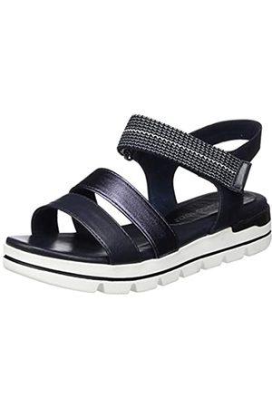 Marco Tozzi Women's 2-2-28501-24 Ankle Strap Sandals, (Navy Comb 890)