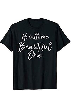 P37 Design Studio Jesus Shirts Christian Inspirational Quote Gift He Calls Me Beautiful One T-Shirt