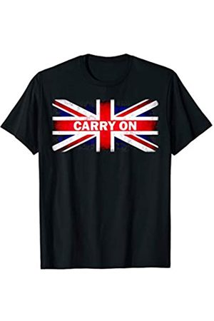 Torn Ripped Union Jack Flag Mens British T-Shirt Team GB UK St Georges Day Top