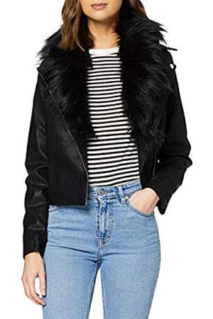 New Look Women's Mariah Ff Collar Pu Jacket Transitional
