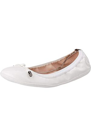 LPB Women's AVA Ballet Flats, (Blanc Verni)