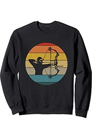 Archery Apparel Co. Vintage Retro Archery Man Sunset Men's Bow Hunting Gift Sweatshirt