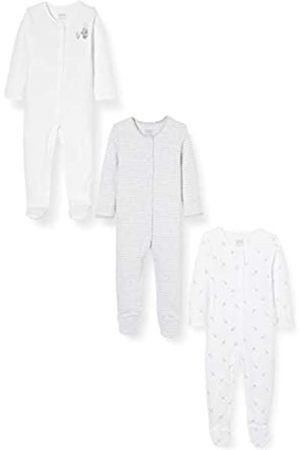 Mamas & Papas Baby 3 Pack Sleepsuits/All in One Bears Bodysuit