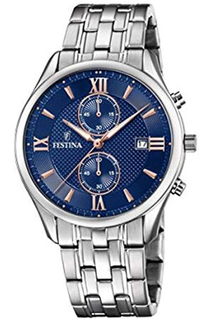 Festina Mens Chronograph Quartz Watch with Stainless Steel Strap F6854/6