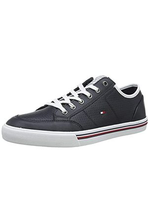 Tommy Hilfiger Men's Core Corporate Leather Sneaker Low-Top, (Desert Sky Dw5)