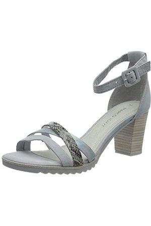 Marco Tozzi Women's 2-2-28776-24 Ankle Strap Sandals, (Sky Comb 857)