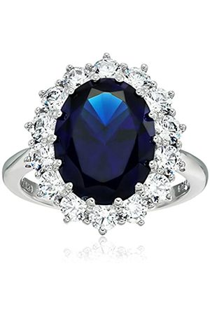 "Amazon Collection Platinum-Plated Sterling Silver Celebrity""Kate"" Ring made with Swarovski Zirconia Accents"