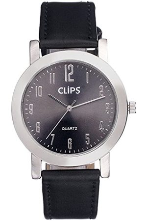 Clips Men's Quartz Watch with Dial Analogue Display and Leather Wristwatch XL 554-6027-99