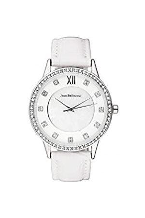 Jean Bellecour Unisex-Adult Analogue Classic Quartz Watch with Leather Strap REDK1