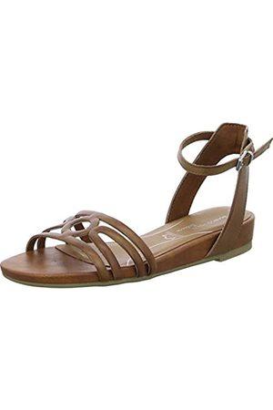 Marco Tozzi Women's 2-2-28425-24 Ankle Strap Sandals, (Nut 440)