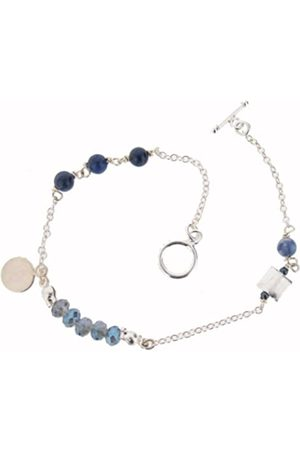 Earth Sterling 20cm 'Micro' Bracelet with Sodalite Beads