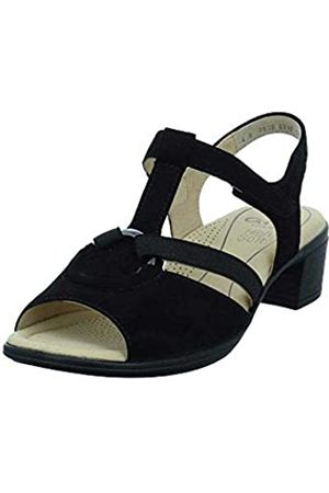 ARA Women's Lugano T-Bar Sandals, (Schwarz 08)