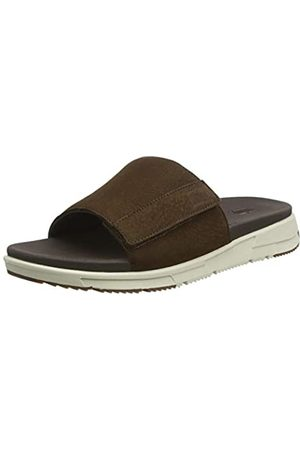 Fitflop Men Flip Flops - Men's Sporty Slides Flip Flops, (Chocolate 167)