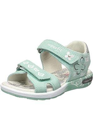 Superfit Girls' Emily Ankle Strap Sandals, (GRÜN 70)