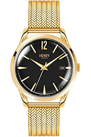 Henry London Unisex-Adult Analogue Classic Quartz Watch with Stainless Steel Strap HL39-M-0178