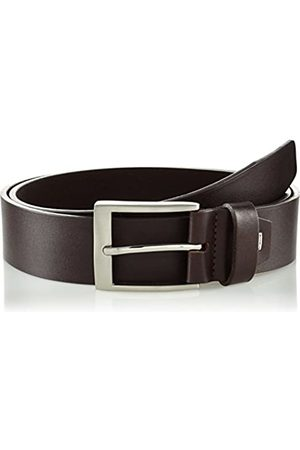 Lindenmann Mens leather belt/Mens belt, business belt, full grain leather belt, dark , Größe/Size:85