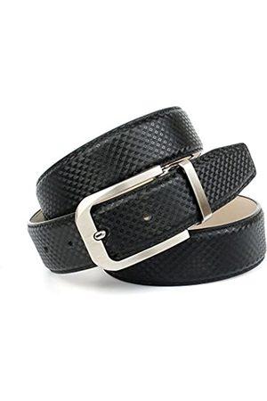 Anthoni Crown Men's's A1NB10S Belt (schwarz 010) 105