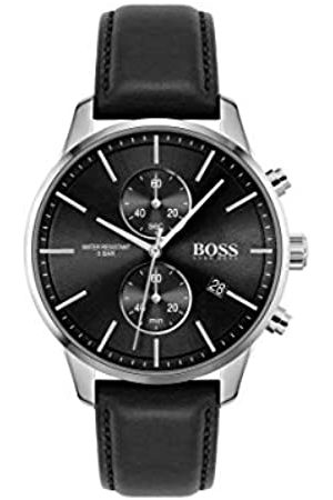 HUGO BOSS Men's Analogue Quartz Watch with Leather Strap 1513803
