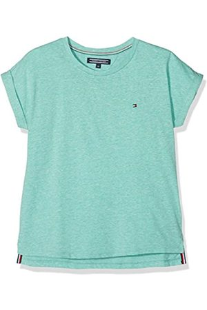 Tommy Hilfiger Girl's Essential Roll Up Sleeve Knit S/s T-Shirt, - Slate 406