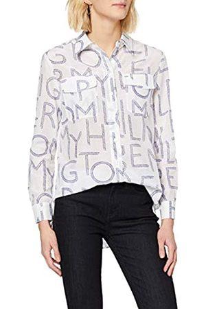 Tommy Hilfiger Women's Leila PRT Shirt LS W4 Jumper, (Tommy Spell Out Large/ 0K5)