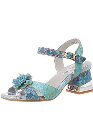 Laura Vita Women's Hecbino 03 Open Toe Sandals, (Turquoise Turquoise)