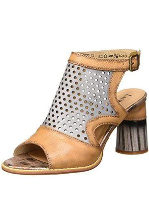 Laura Vita Women's Gucstoo 21 Open Toe Sandals, (Camel Camel)