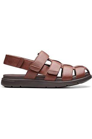 Clarks Men's Unwilmore Ray Closed Toe Sandals, (Mahogany Mahogany)