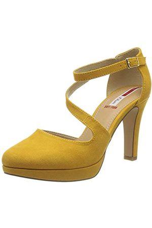 s.Oliver Women's 5-5-24420-34 Ankle Strap Heels, (Saffron 601)