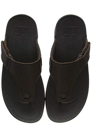 FitFlop Men's TRAKK II Toe-Thongs Flip Flops, (Chocolate 167)
