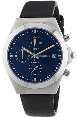 Tectonic 41-6907-99-Unisex Watch Analogue Quartz Chronograph Stopwatch Time between/ Leather Strap