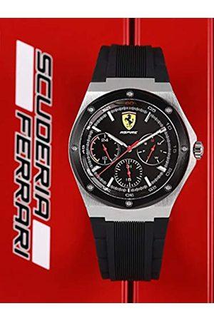 Scuderia Ferrari Mens Multi dial Quartz Watch with Silicone Strap 0830537