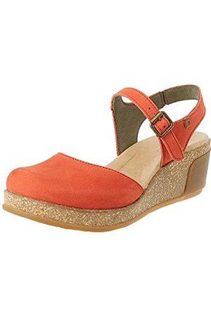 El Naturalista Women's N5001 Pleasant Leaves Closed Toe Sandals, (Coral Coral)