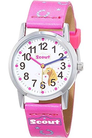 Scout Girl's Analogue Quartz Watch with Fabric Band Strap 1