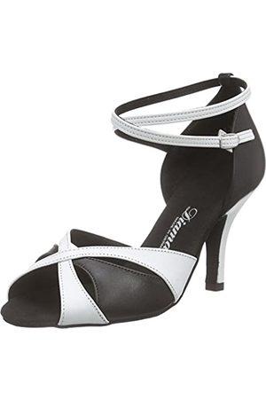 Diamant Women's 141-058-343 Ballroom Dance Shoes, Mehrfarbig (Schwarz/Weiß)