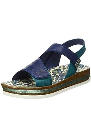 Think! Women's 686384_ZEGA Sling Back Sandals, (Indigo/Kombi 90)