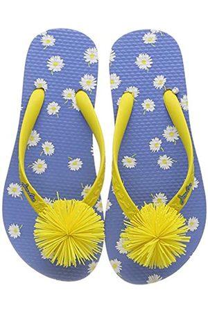 Joules Girls Flip Flops, ( Daisy Bluedaisy)