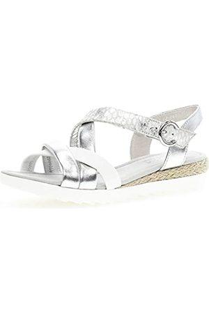 Gabor Shoes Women's Comfort Sport Ankle Strap Sandals, (Silber (Jute) 90)