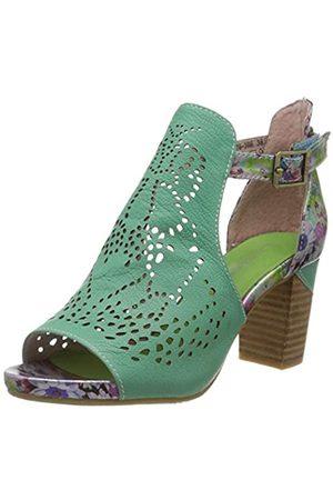 LAURA VITA Women's Bernie 30 Open Toe Sandals, (Vert Vert)