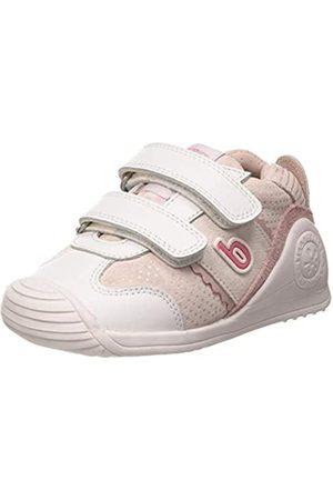 Biomecanics Baby Girls' 202128 Open Back Slippers, (Blanco (Sauvage(2) Y Serraje) C)