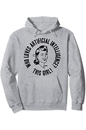 Things I Love Who Loves Artificial Intelligence? This Girl! Womens AI Gift Pullover Hoodie
