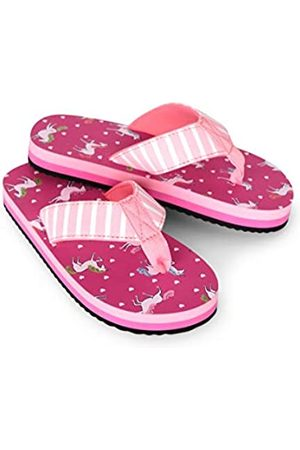 Hatley Girls Flip Flops, (Prancing Unicorns 650)
