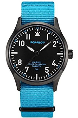POP-PILOT Unisex DXB Quartz Watch with Quartz Dial Analogue Display and Nylon Strap