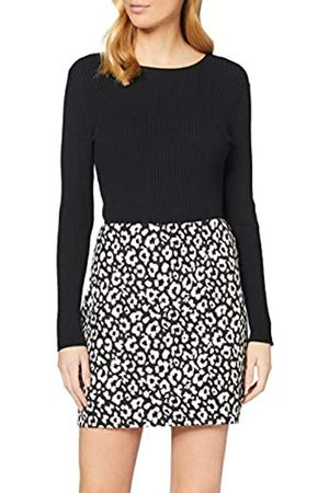 Dorothy Perkins Women's Monochrome Animal Print Textured Mini Skirt