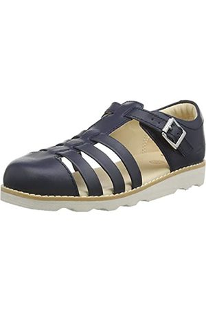 Clarks Boys' Crown Stem K Closed Toe Sandals, (Navy Leather Navy Leather)
