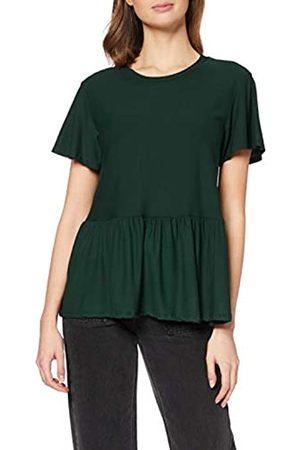 New Look Women's T Crepe Textured Peplum Shirt