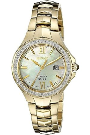 Seiko Womens Analogue Classic Solar Powered Watch with Stainless Steel Strap SUT242P9